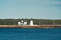 Prospect Harbor Light, Prospect Harbor Point, Winter Harbor, Maine, ME, USA