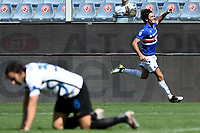 Tommaso Augello of UC Sampdoria celebrates after scoring the goal of 2-2 during the Serie A football match between UC Sampdoria and FC Internazionale at stadio Marassi in Genova (Italy), September 12th, 2021. Photo Image Sport / Insidefoto