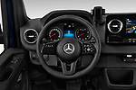 Car pictures of steering wheel view of a 2019 Mercedes Benz Sprinter-Tourer Design-Line 4 Door Passanger Van Steering Wheel