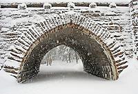 Ski Tracks in Snow, Eagle Lake Bridge  #A56