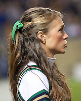 Notre Dame cheerleader. The Pittsburgh Panthers defeat the Notre Dame Irish 27-22 at Heinz Field, Pittsburgh Pennsylvania on November 14, 2009..