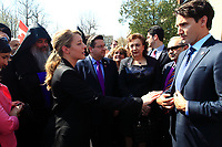 FILE PHOTO  - Liberal leader Justin Trudeau and Montreal mayor Denis Coderre  attend the Commemoration of the Armenian genocide 100th anniversary, March 5, 2015<br /> <br /> PHOTO : Pierre Roussel - Agence Quebec Presse