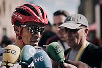 Alberto Contador (ESP/Trek-Segafredo) interviewed after the stage<br /> <br /> 104th Tour de France 2017<br /> Stage 3 - Verviers › Longwy (202km)