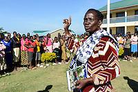 TANZANIA Mara, Tarime, village Masanga, region of the Kuria tribe who practise FGM Female Genital Mutilation, temporary rescue camp of the Diocese Musoma for girls which escaped from their villages to prevent FGM / TANSANIA Mara, Tarime, Dorf Masanga, in der Region lebt der Kuria Tribe, der FGM weibliche Genitalbeschneidung praktiziert, temporaerer Zufluchtsort fuer Maedchen, denen in ihrem Dorf Genitalverstuemmelung droht, in einer Schule der Dioezese Musoma, REGINA ANDREA MUKAMA genannt MAMA REGINA kaempft seit Jahren gegen FGM
