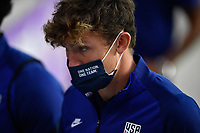 ORLANDO CITY, FL - JANUARY 31: Sam Vines #13 of the United States before a game between Trinidad and Tobago and USMNT at Exploria stadium on January 31, 2021 in Orlando City, Florida.