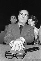- François Mitterrand, segretario del PSF (Partito Socialista Francese) a Milano nel 1975<br /> <br /> - François Mitterrand, secretary of the French Socialist Party (PSF) in Milan in 1975