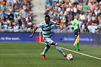 ST. PAUL, MN - AUGUST 21: Gadi Kinda #17 of Sporting Kansas City during a game between Sporting Kansas City and Minnesota United FC at Allianz Field on August 21, 2021 in St. Paul, Minnesota.