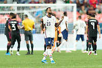 DENVER, CO - JUNE 6: Kellyn Acosta #23 of the United States during a game between Mexico and USMNT at Mile High on June 6, 2021 in Denver, Colorado.