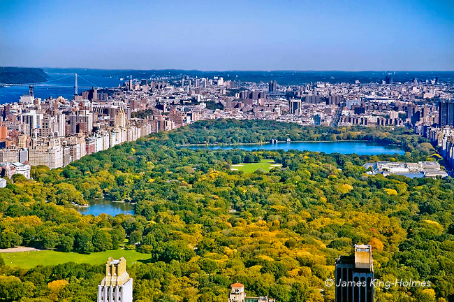 New York. Central Park, from the roof of the Rockefeller Building, looking North