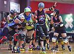 Dixie Derby Girls vs. Hard Knox Roller Girls roller derby at Skate Odyssey in Huntsville, AL. Military Appreciation Bout. (Bob Gathany/bgathany@AL.com)