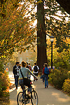 People on campus at the University of Portland, Oregon