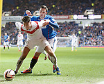 Gregor Buchanan holds off Nicky Clark