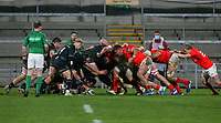 12 December 2020; Ulster take a ball against the head during the A series inter-pros series 20-21 between Ulster A and Munster A at Kingspan Stadium, Ravenhill Park, Belfast, Northern Ireland. Photo by John Dickson/Dicksondigital