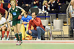 Berlin, Germany, February 01: head coach Nicolai Sussenburger of Duesseldorfer HC looks on during the 1. Bundesliga Damen Hallensaison 2014/15 final hockey match between Duesseldorfer HC (white) and HTC Uhlenhorst Muehlheim (green) on February 1, 2015 at the Final Four tournament at Max-Schmeling-Halle in Berlin, Germany. Final score 4-1 (1-0). (Photo by Dirk Markgraf / www.265-images.com) *** Local caption ***