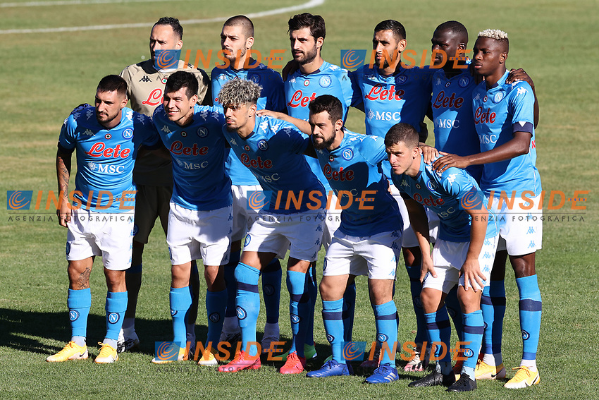 SSC Napoli Team line-up <br /> during the friendly football match between SSC Napoli and SS Teramo Calcio 1913 at stadio Patini in Castel di Sangro, Italy, September 04, 2020. <br /> Photo Cesare Purini / Insidefoto