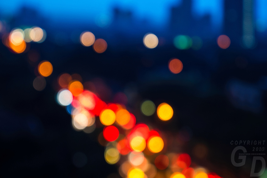 Abstract Lights during Traffic peak hour in Manila