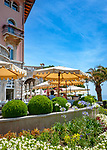 Croatia, Kvarner Gulf, Opatija: Café Wagner at Amadria Park Hotel Milenij, a 5-stars-hotel   Kroatien, Kvarner Bucht, Opatija: Café Wagner im Amadria Park Hotel Milenij, einem 5-Sterne-Hotel