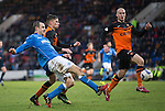 St Johnstone v Dundee United...27.12.14   SPFL<br /> Dave Mackay's cross is blocked by Jaroslaw Fojut<br /> Picture by Graeme Hart.<br /> Copyright Perthshire Picture Agency<br /> Tel: 01738 623350  Mobile: 07990 594431