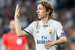 Luka Modric of Real Madrid reacts during their 2016-17 UEFA Champions League Semifinals 1st leg match between Real Madrid and Atletico de Madrid at the Estadio Santiago Bernabeu on 02 May 2017 in Madrid, Spain. Photo by Diego Gonzalez Souto / Power Sport Images