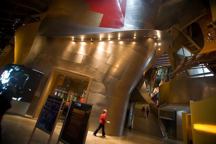 Grand entry, Experience Music Project and Science Fiction Museum, Seattle, Washington, Pacific Northwest, USA,