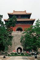 China, Peking, Minggräber, Grab Changling, Stelenturm