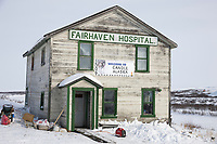 The Fairhaven hospital at the ghost town of Candle, Alaska, the half way point of the 2008 All Alaska Sweepstakes sled dog race.