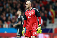 Argentina's Willy Caballero dejected during international friendly match. March 27,2018. *** Local Caption *** © pixathlon<br /> Contact: +49-40-22 63 02 60 , info@pixathlon.de