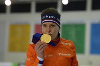 SPEEDSKATING: 16-02-2020, Utah Olympic Oval, ISU World Single Distances Speed Skating Championship, Podium 1500m Ladies, Ireen Wüst (NED), World champion, gold medal, ©photo Martin de Jong