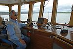Mackenzie River ferry at Tsiigietchic