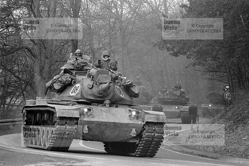 - NATO exercises in Germany, M 60 US Army tanks (January 1985)<br /> <br /> - esercitazioni NATO in Germania, carri armati M 60 dell'US Army (gennaio 1985)