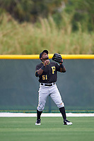 Pittsburgh Pirates Tito Polo (51) during a minor league Spring Training game against the Toronto Blue Jays on March 24, 2016 at Pirate City in Bradenton, Florida.  (Mike Janes/Four Seam Images)