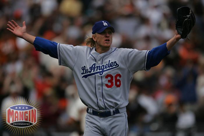Jeff Weaver. Los Angeles Dodgers vs San Francisco Giants. San Francisco, CA 9/17/2005 MANDATORY CREDIT: Brad Mangin