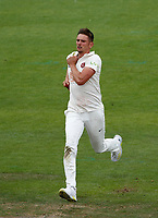 6th July 2021; Emirates Old Trafford, Manchester, Lancashire, England; County Championship Cricket, Lancashire versus Kent, Day 3; Harry Podmore of Kent bowls