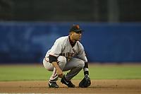 Edgardo Alfonzo of the San Francisco Giants during a 2003 season MLB game at Dodger Stadium in Los Angeles, California. (Larry Goren/Four Seam Images)