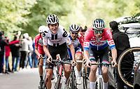 Mathieu Van der Poel (NED/Alpecin-Fenix) up the final climb of the day; the Côte de la Roche aux Faucons<br /> <br /> 106th Liège-Bastogne-Liège 2020 (1.UWT)<br /> 1 day race from Liège to Liège (257km)<br /> <br /> ©kramon