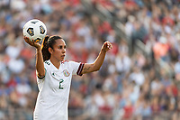 EAST HARTFORD, CT - JULY 5: Bianca Sierra #2 of Mexico on a throw in during a game between Mexico and USWNT at Rentschler Field on July 5, 2021 in East Hartford, Connecticut.