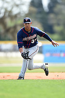 Minnesota Twins Tyler Kuresa (37) during practice before a minor league spring training game against the Baltimore Orioles on March 28, 2015 at the Buck O'Neil Complex in Sarasota, Florida.  (Mike Janes/Four Seam Images)