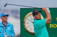 160719 | The 148th Open - Tuesday Practice<br /> <br /> Francesco Molinari of Italy on the 2nd tee during practice for the 148th Open Championship at Royal Portrush Golf Club, County Antrim, Northern Ireland. Photo by John Dickson - DICKSONDIGITAL