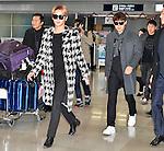 JYJ, Junsu, Yoo-chun, December 12, 2014, Osaka, Japan : Korean singer Junsu Kim(L) and Yoochun Park of JYJ arrive Kansai International Airport in Osaka, Japan, on December 12, 2014.