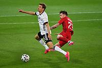 2nd June 2021, Tivoli Stadion, Innsbruck, Austria; International football friendly, Germany versus Denmark;  Thomas MUELLER GER ,  against Pierre Emile HOEJBJERG DEN