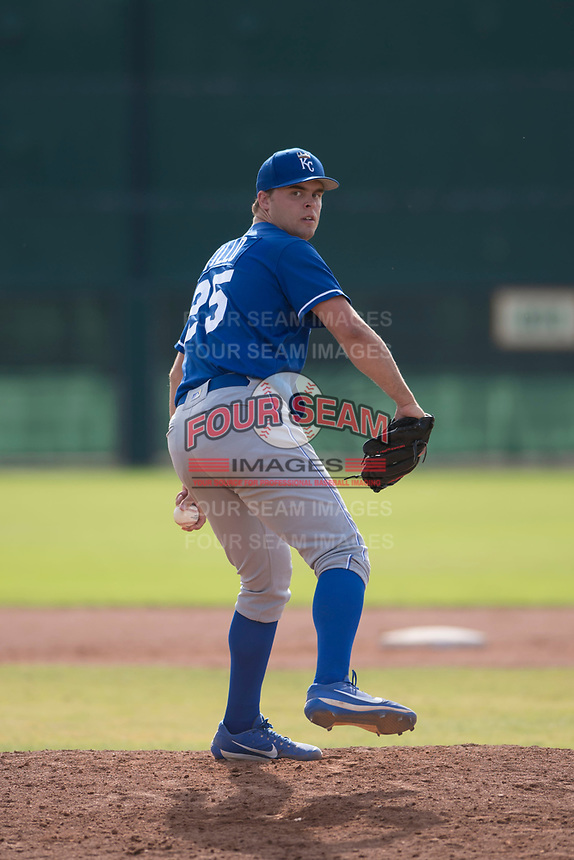 Kansas City Royals starting pitcher Daniel Tillo (25) delivers a pitch to the plate during an Instructional League game against the San Francisco Giants at the Giants Training Complex on October 17, 2017 in Scottsdale, Arizona. (Zachary Lucy/Four Seam Images)