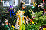 Scarecrow Festival at Kettlewell in Yorkshire 2013<br /> <br /> Small scarecrows make a colourful display<br /> <br /> Scarecrows are made by local community and places in and around their front gardens.  Competition is fierce but it's all to raise money  for the local church  and other local projects to benefit the whole community.<br /> <br /> <br /> <br /> Picture by Gavin Rodgers/ Pixel 8000 <br /> <br /> 07917221968