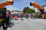The start of Stage 20 of the 2021 Giro d'Italia, running 164km from Verbania to Valle Spluga-Alpe Motta, Italy. 29th May 2021.  <br /> Picture: LaPresse/Gian Mattia D'Alberto   Cyclefile<br /> <br /> All photos usage must carry mandatory copyright credit (© Cyclefile   LaPresse/Gian Mattia D'Alberto)