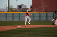Norman Leon (2) of Evergreen Valley High School in San Jose, California during the Baseball Factory All-America Pre-Season Tournament, powered by Under Armour, on January 14, 2018 at Sloan Park Complex in Mesa, Arizona.  (Freek Bouw/Four Seam Images)