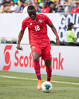 PHILADELPHIA, PA - JUNE 30: Abdiel Arroyo #18 during a game between Panama and Jamaica at Lincoln Financial Field on June 30, 2019 in Philadelphia, Pennsylvania.