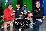 Enjoying the afternoon in Killarney on Monday, l to r:  David Shaw, Tony Brosnan, Tom Rohan and Vince Casey.