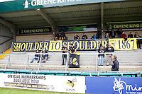 Photo: Richard Lane/Richard Lane Photography. London Wasps v Worcester Warriors. 07/09/2012. Wasps supporters banner.