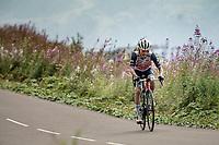 Kenny Elissonde (FRA/Trek-Segafredo) up the finish climb & the highest peak of the 2020 #TdF: the Col de la Loze (HC/2304m/21,5km @7,8%)<br /> <br /> Stage 17 from Grenoble to Méribel - Col de la Loze (170km)<br /> <br /> 107th Tour de France 2020 (2.UWT)<br /> (the 'postponed edition' held in september)<br /> <br /> ©kramon