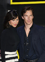 British actor Benedict Cumberbatch and wife Sophie Hunter attend the STAR WARS: 'The Force Awakens' EUROPEAN PREMIERE at Odeon, Empire & Vue Cinemas, Leicester Square, England on 16 December 2015. Photo by David Horn / PRiME Media Images