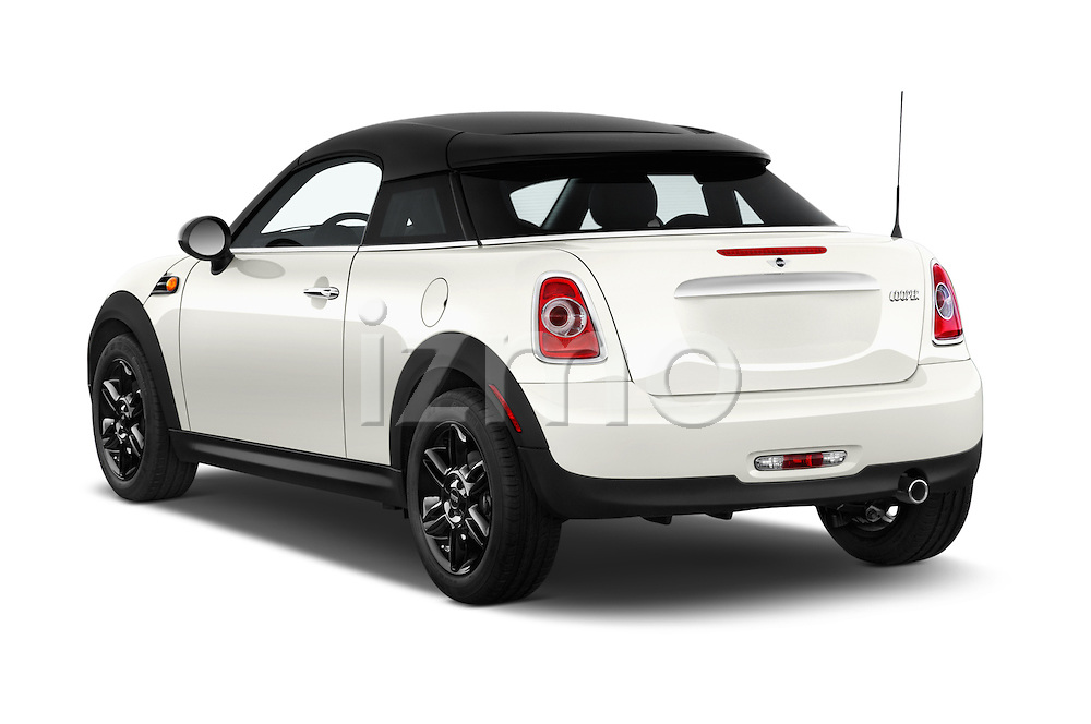 Car pictures of rear three quarter view of a 2015 MINI Mini Cooper 2 Door Coupe Angular Rear